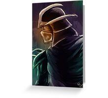 Shredder Foot Clan Grandmaster Greeting Card