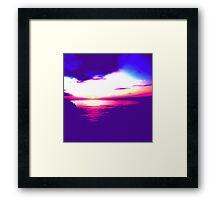 Sunset Sea Framed Print