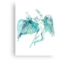 ICARUS THROWS THE HORNS - WATERCOLOR Canvas Print