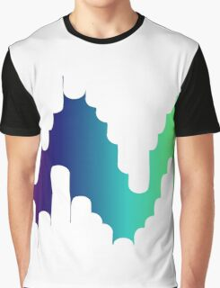 Rainbow Lines 2 - Abstract Graphic T-Shirt