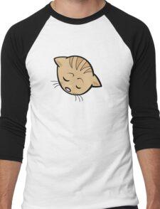 Sleeping brown cat head art Men's Baseball ¾ T-Shirt
