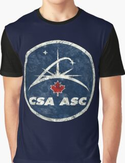 Vintage Emblem Canadian Space Agency Graphic T-Shirt