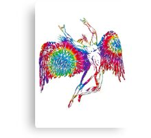 ICARUS THROWS THE HORNS - TIE DYE 1 Canvas Print
