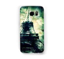 Eiffel Tower, Floral and Green Samsung Galaxy Case/Skin