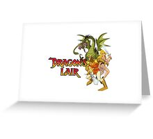 Dragons Lair - White Variant Greeting Card