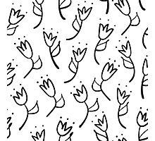 doodle tulip  pattern Photographic Print