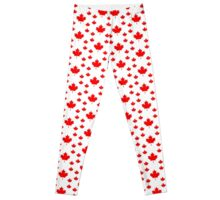 Canada Leggings - Canadian Maple Leaf Pattern Duvet Leggings