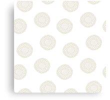 simple doodle white flower pattern Canvas Print