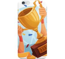 Funny cartoon sporting trophy design iPhone Case/Skin