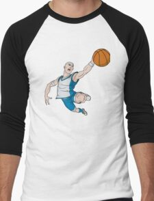 Basketball player pose Men's Baseball ¾ T-Shirt