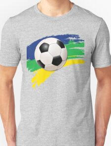 Brazil soccer world cup background Unisex T-Shirt