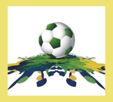 Soccer beautiful texture with brazil colors One Piece - Short Sleeve