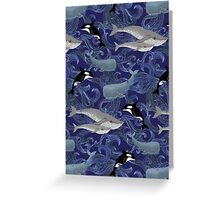 Beautiful Ocean Giants - purple Greeting Card