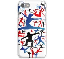 Athletic player made heart in Olympic iPhone Case/Skin