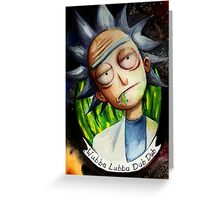 Rick (without Morty) Watercolor Greeting Card