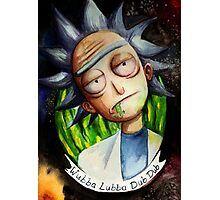 Rick (without Morty) Watercolor Photographic Print