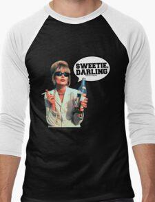 "Absolutely Fabulous - ""Sweetie, Darling"" Patsy. Men's Baseball ¾ T-Shirt"