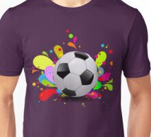 Colorful soccer background Unisex T-Shirt