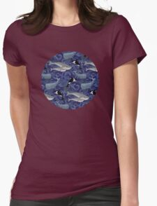Beautiful Ocean Giants - purple Womens Fitted T-Shirt
