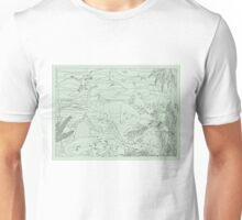 Dinosaur Scene, Green Background Unisex T-Shirt