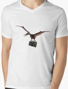 Pterodactyl Radio Mens V-Neck T-Shirt