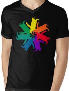 Penguin Color Wheel Mens V-Neck T-Shirt