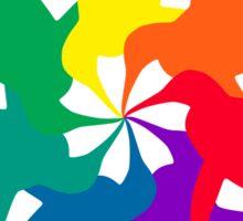 Penguin Color Wheel Sticker