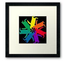 Penguin Color Wheel Framed Print