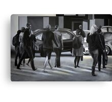 Rush time, 2012, 120-80cm, oil on canvas Canvas Print