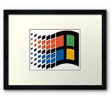 Windows 95 Design Framed Print