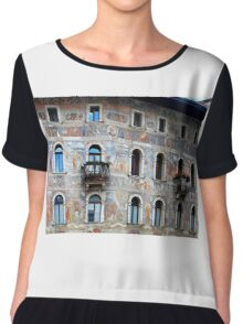 Wall decorations in Trento - Italy Women's Chiffon Top