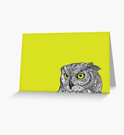 Ornate Owl Greeting Card