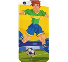 Funny cartoon football sporting design iPhone Case/Skin