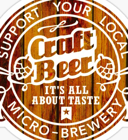 Craft Beer, wood  Sticker