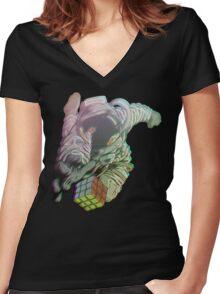 Astroretro Women's Fitted V-Neck T-Shirt