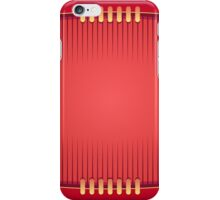 Geometric Red Rugby Football iPhone Case/Skin