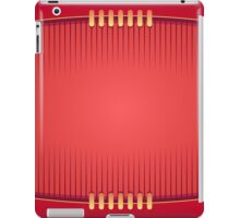 Geometric Red Rugby Football iPad Case/Skin