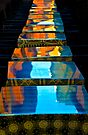 Reflective tables, Bologna by Andrew Jones