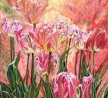 Healing Tulip Garden by Carol  Cavalaris