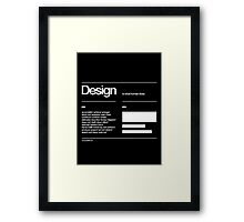 Design Framed Print
