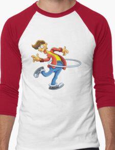 Cartoon boy playing with ring Men's Baseball ¾ T-Shirt