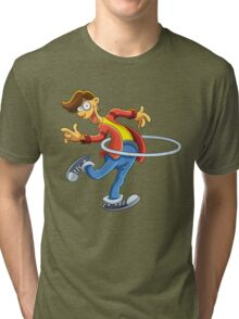 Cartoon boy playing with ring Tri-blend T-Shirt