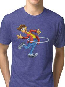 Cartoon boy playing with ring Tri-blend T-Shirt