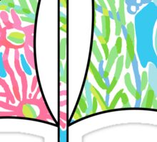 Lilly Pulitzer Inspired Sailboat - Lovers Coral Sticker