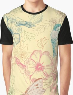 Flowers and animals Graphic T-Shirt