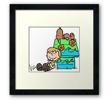 SNOOPY-DOO - SHAGGY BROWN Framed Print