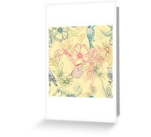 Flowers and animals Greeting Card