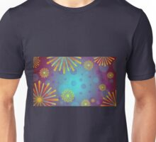 Colorful Glowing Geometric Floral Pattern Unisex T-Shirt