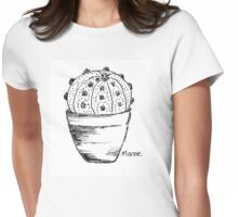 Cactus love (Sand Dollar) Womens Fitted T-Shirt