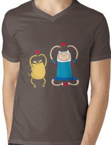 Jake and Finn Mens V-Neck T-Shirt